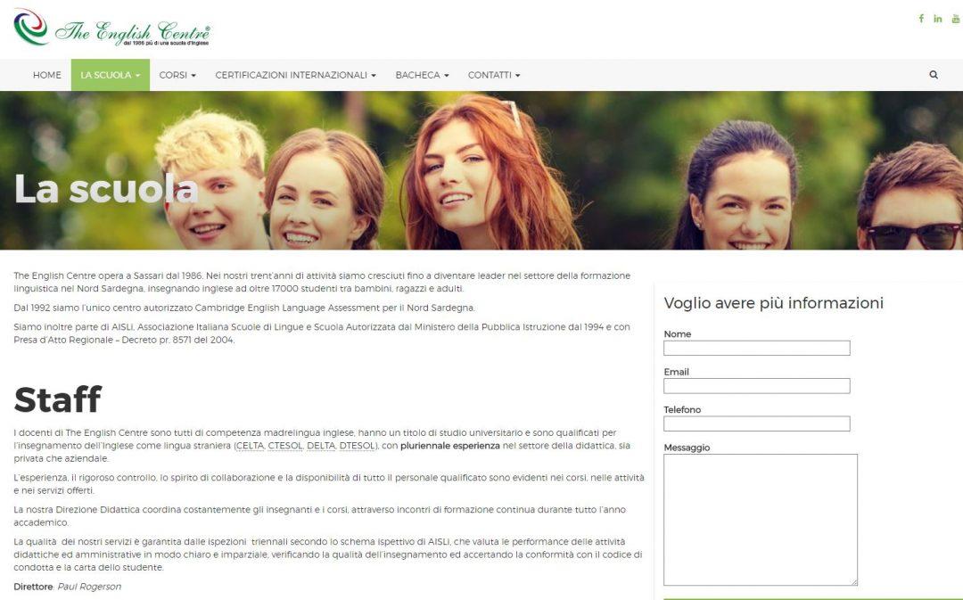Sito web TheWnglishCentreOnline.com